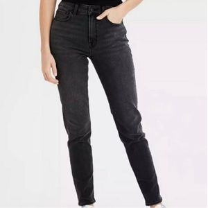 American Eagle Mom Jeans, Washed Black - Size 6